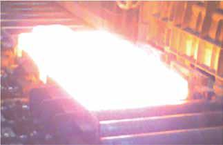太钢、临钢板坯加热炉温均匀性测试现场